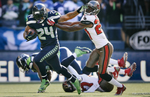 Seattle Seahawks vs Tampa Bay Buccaneers; Marshawn Lynch