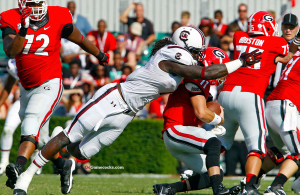 Jadeveon Clowney is clearly the top-rated defensive end in the 2014 draft.